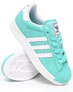 ADIDAS Women's Shoes - Adidas Women Green Superstar 2 W Sneakers. Just make the white gray. Then they wont get as dirty - Find deals and best selling products for adidas Shoes for Women Adidas Shoes Women, Nike Women, Adidas Sneakers, Shoes Sneakers, Adidas Outfit, Blue Sneakers, Cute Shoes, Me Too Shoes, Look Adidas