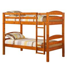 Twin Solid Wood Bunk Bed - Honey