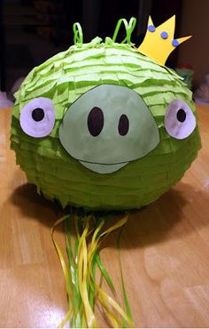 piñata del cochino de Angry birds!!