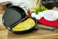 Alicenter(TM) Nonstick Omelet Egg Pan Poacher Cookware Stove-top Family Kitchen Tool Use Egg Skillet, Skillet Cooking, Toy Kitchen Set, Family Kitchen, Omelette Pan, Play Food, How To Cook Eggs, Macaroni And Cheese, Fries