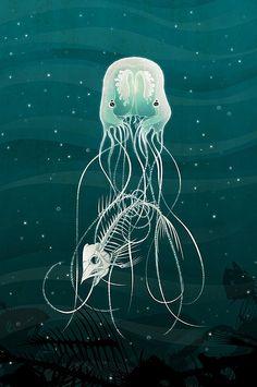 Jellyfish and Fish bones