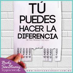 #BodySanctuary #Motivacion #Salud #Belleza #Gym Tú puedes hacer la diferencia…  Body Sanctuary -- Santa Fé -- WTC -- Satélite Tels: 01 55 2591 0403 / 01 55 9000 1570 / 01 55 1663 0375 E-mail: info@bodysanctuary.com.mx Web: http://www.bodysanctuary.com.mx/