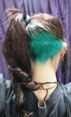 fun idea if you don't want to always show off your color (schooooolllll)