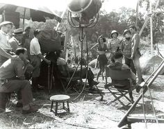Johnny Weissmuller & Maureen O'Sullivan on location for Tarzan and His Mate (1934)
