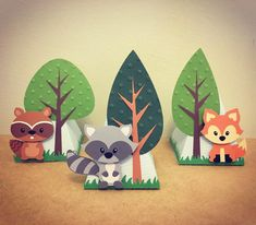 Birthday Gifts Diy Baby Ideas For 2019 Forest Party, Woodland Party, Forest Theme, Animal Birthday, Birthday Diy, Birthday Gifts, Woodland Creatures, Woodland Animals, Diy And Crafts