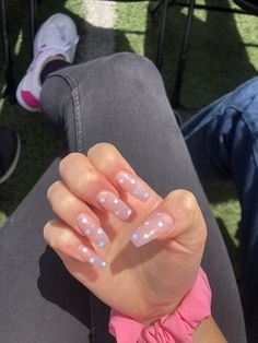 In search for some nail designs and ideas for your nails? Here's our listing of must-try coffin acrylic nails for trendy women. Summer Acrylic Nails, Best Acrylic Nails, Acrylic Nail Designs, Summer Nails, Fake Nail Designs, Acrylic Nails Glitter, Unique Nail Designs, Holographic Nails Acrylic, Pink Sparkle Nails