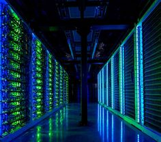 High-density racks of servers inside the Switch SUPERNAP