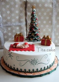 Christmas Baby Cake | Pinterest