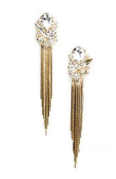 Fringe Drop Earrings in Gold | #luxurydesign exclusive jewelry, expensive brands, inspiration . Visit www.memoir.pt