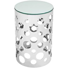 Modway Furniture Modern Etch Stainless Steel Glass Top Side Table in Silver #design #homedesign #modern #modernfurniture #design4u #interiordesign #interiordesigner #furniture #furnituredesign #minimalism #minimal #minimalfurniture
