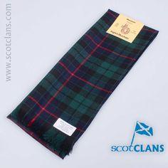 wool scarf in Morrison modern tartan  - from ScotClans