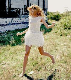 #DESIGNROOM #Nude-White #Tasselled #Dress