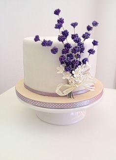 Enjoyable 221 Best Purple And White Cakes Images White Cakes Cake Personalised Birthday Cards Arneslily Jamesorg