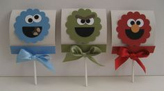 Sesame Street lollipop holders by jodan - Cards and Paper Crafts at Splitcoaststampers