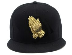 3D Praying Hands Snapback Cap by DNINE RESERVE - Oh Snapbacks, Strapbacks and 5 Panel Hats #snapbacks #snapbax