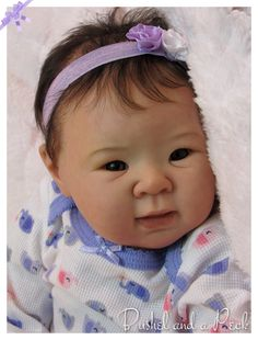 CUSTOM Order for Reborn Jiali Baby Doll by Bushel and a Peck
