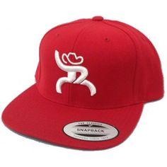 fda3bba7032 HOOey Cap Rebel Red and White Snapback Roughy Cowboy Cap