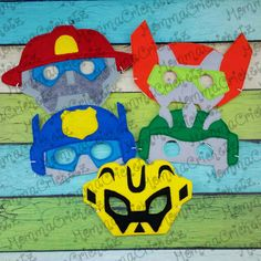 Rescue Hero felt mask costume party favor by MommaCricketz on Etsy Superhero Birthday Party, Boy Birthday Parties, 4th Birthday, Birthday Ideas, Rescue Bots Birthday, Transformer Birthday, Fairy Tales For Kids, Felt Mask, Mask Party