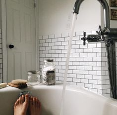 """"""" grace–upon–grace: """" Marilou """" We're redoing our bathroom soon. Excited for a new tub and to pick out tile and paint and lighting and a vanity! Love home projects. Interior And Exterior, Interior Design, Chill Pill, House Goals, Beautiful Bathrooms, Humble Abode, Decoration, Future House, Sweet Home"""