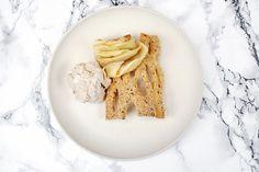 Tarte aux pommes d'automne et crème glacée aux marrons. La recette sur www.eatdesign.eu  #fooddesign #designculinaire #eatdesign