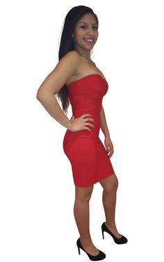 Strapless Bandage Dress - Nessa Raquel $64.99