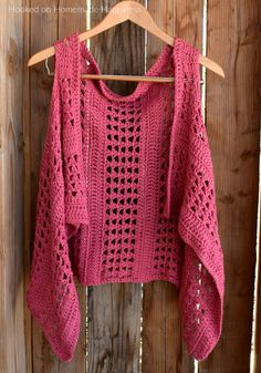 """XOXO Summer Vest - Add this XOXO Summer Crochet Vest to your summer wardrobe for a fun accessory! The cotton yarn makes it light and a great project for warmer months.I used the """"X' stitch. It has an open, airy design, and creates a nice textured piece."""