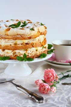 Ihana Mango-passion Britakakku - Suklaapossu Baking Recipes, Cake Recipes, Sweet Pastries, Sweet Cakes, Sweet And Salty, Desert Recipes, I Love Food, Yummy Cakes, No Bake Cake