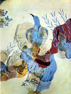 Minoan Crete - fresco of the Blue Bird