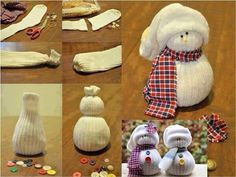 Cute Sock Snowman!