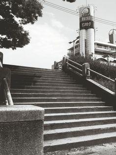#Monochrome #UrbanGeometry #Streetphotography in Osaka, Japan, May 1, 2014 | EyeEm