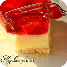 Rezept für einen einfachen Erdbeerkuchen mit Pudding