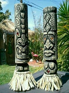 Carved tiki...