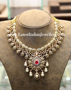 Indian diamond statement necklace