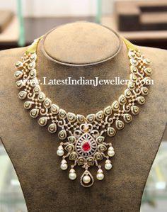 Indian diamond statement necklace