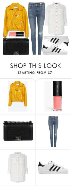 """street style"" by sisaez ❤ liked on Polyvore featuring Zara, Monki, Chanel, rag & bone, Dorothy Perkins and adidas Originals"