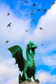 The Dragons of Ljubljana Slovenia.