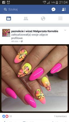 Butterfly Nail, Aga, Almond Nails, Manicures, Summer Nails, Hair And Nails, Butterflies, Nailart, Nail Designs