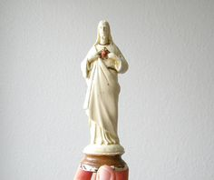 vintage Jesus sacred heart statue by thehopetree on Etsy, $30.00