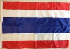 Thai-Flag-Thailand-50-x-75-Cm-New-Kingdom-Flags-Polyester-Asia-Country - Brought to you by Avarsha.com