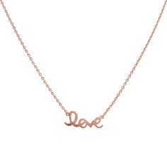 """""""Casey"""" Rose gold love necklace - White Crown SocietyWhite Crown Society"""
