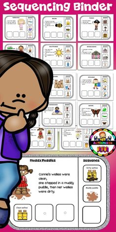 Practice sequencing skills with this fun Interactive Binder!