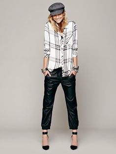 Free People Vegan Leather Slouch Pant  | #Chic Only #Glamour Always