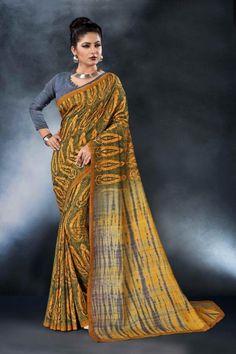 baed473e13 Nari fashion Monalisa exclusive stylish digital printed silk saree latest  catalog in wholesale price surat at