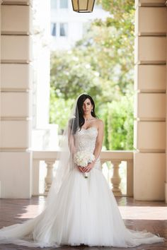 Moonlight Bridal real bride, Ashley in our beaded couture style, H1287.