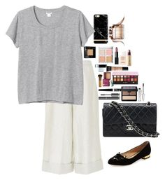 """Untitled #3399"" by veronicaptr ❤ liked on Polyvore featuring e.l.f., Chanel, NARS Cosmetics, Monki, Charlotte Olympia, Sephora Collection, MAKE UP FOR EVER, Benefit, Rimmel and Urban Decay"