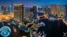 Dubai Marina - Shot from the Address Hotel in Dubai Marina. Weather is still…