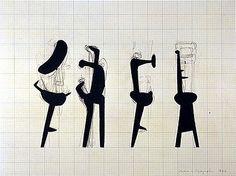 Noguchi -- Worksheet for Sculpture (Strange Bird), 1946 | Flickr