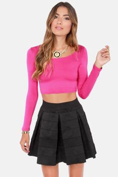 1d3c0db7d Playing for Keeps Fuchsia Crop Top
