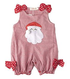 Baby Girl Summer Christmas Santa Claus Costume Ribbon Outfit Dress 18-24Months Red * Click image to review more details. (This is an affiliate link) #ChristmasBabyGirlOutfit