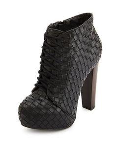Lace-Up Platform Heel Bootie: Charlotte Russe.. going for 20 bucks online so sad im missing the sale.